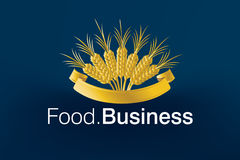 Food Business Logo. Green Land Logo for food and constructions or other Companies Stock Photo