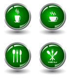 Food Buttons Royalty Free Stock Photos