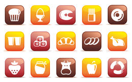 Food buttons Royalty Free Stock Images