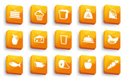 Food buttons Stock Image