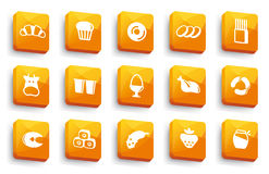 Food buttons Stock Photography