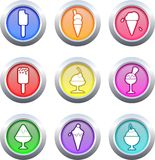 Food buttons Stock Photo