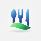 Food or cafe bright icon Royalty Free Stock Photo