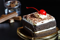 Food cake chocolate ready for serving and look luxury for celebr Royalty Free Stock Images