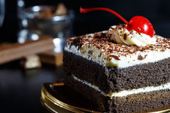 Food cake chocolate ready for serving and look luxury for celebr Stock Image