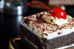 Food cake chocolate ready for serving and look luxury for celebr Stock Photography
