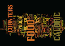 Food Calorie Counters Text Background  Word Cloud Concept Royalty Free Stock Photos
