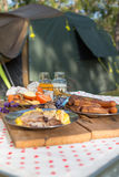 food a camp royalty free stock photography