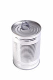 Food can. Photograph of a food can shot in studio against a white background Royalty Free Stock Image