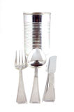 Food can knife fork and spoon Royalty Free Stock Photography