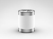 Food can with white label Royalty Free Stock Image