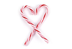Food - Candy Cane Heart Stock Images