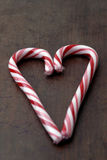 Food - Candy Cane Heart Stock Photo
