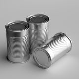 Food cans. 3D computer illustration with global illumination enabled Royalty Free Stock Photos