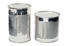 Food cans Royalty Free Stock Photo