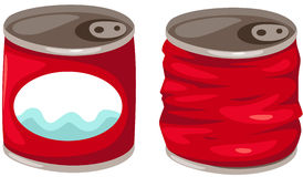 Food cans. Illustration of isolated food cans on white background Royalty Free Stock Photos