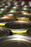 Food cans for charity Royalty Free Stock Image