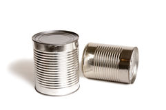 Food Cans Without Labels Stock Photo