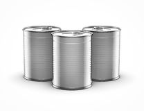 Food cans. On white background Stock Photography