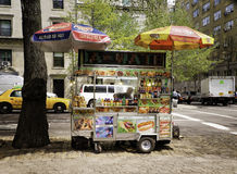 Food Cart, Manhattan, New York City Stock Image