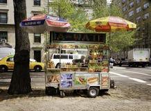 Food Cart, Manhattan, New York City stock image