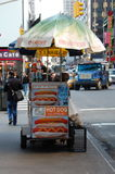 Food Cart on a New York City Street Stock Image