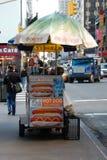 Food Cart on a New York City Street Stock Image