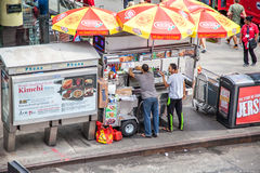 Food cart in New York City Stock Photography
