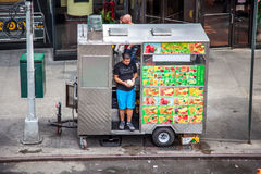 Food cart in New York City Royalty Free Stock Images