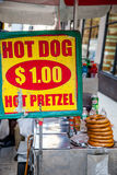 Food cart in New York City Stock Photos