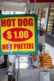 Food cart in New York City Stock Photos