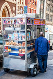 Food cart in New York City Stock Photo
