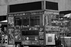 Food Carts In Midtown in New York City. stock photography