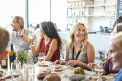 Food Catering Cuisine Culinary Gourmet Party Concept. Diverse Friends Food Catering Cuisine Culinary Gourmet Party stock photography
