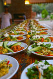 Food catering. Finger food arrangement - food catering Royalty Free Stock Photos