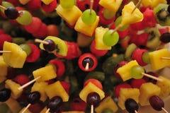 Food catering. Finger food fruit salad Stock Photo