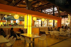 The food center at Johor Premium Outlet Royalty Free Stock Photography