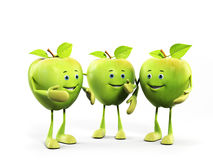 Food character - apple Royalty Free Stock Photos