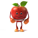 Food character - apple Royalty Free Stock Photo