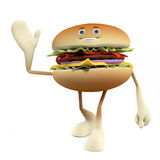 Food character - burger Stock Image