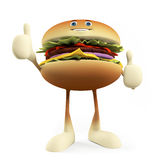 Food character - burger Stock Photography
