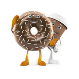 Food character - coffee cup and donut Royalty Free Stock Photos
