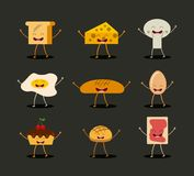 Food character design Stock Image
