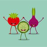 Food character design Royalty Free Stock Photography