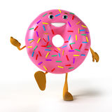 Food character - donut Royalty Free Stock Image