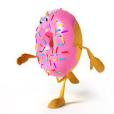 Food character - donut Royalty Free Stock Photo