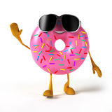 Food character - donut Stock Photo