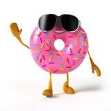 Food character - donut Stock Photo