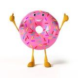 Food character - donut Royalty Free Stock Photos