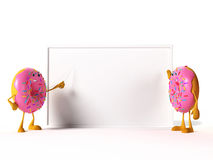 Food character - donut Royalty Free Stock Photography